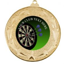 Star Darts 50mm Medal Including Personalised Centre